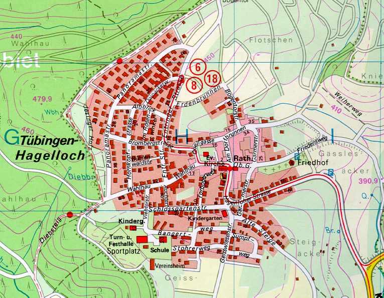 Landkarte Hagelloch