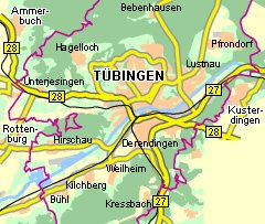 Lageplan Tübingen am Neckar